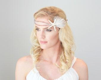 Starfish Beach Bridal Halo Headband Wedding Accessories