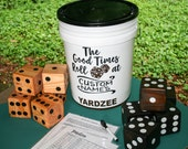 PERSONALIZED yahtzee dice game, YARDzee, giant outdoor Yahtzee yard dice, Yatzee lawn dice game, yardzee large dice, fun wedding fathers day