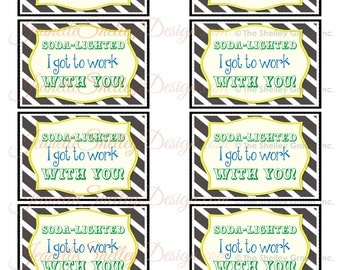 instant download...  Printable Gift Tag Soda-Lighted - So Delighted Gift Tags