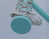 Mantra Bracelet - Mantra Band - Engraved Bracelet - Personalized Bracelet - Inspirational Bracelet - Inspirational Jewelry - Sterling Silver