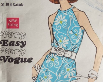 So Chic Summer Dress Very Easy Very Vogue Pattern 7544