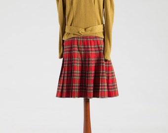 Original Scottish Red Pleats Skirt