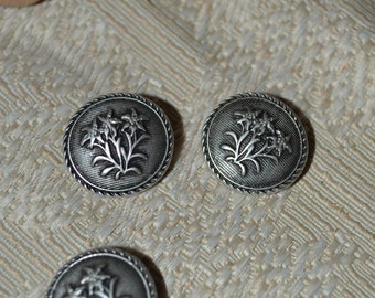 Set of Six (6) Metal Buttons