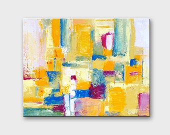 Contemporary Abstract canvas art Abstract art Canvas painting Geometric abstract painting Abstract wall art Geometric wall art Contemporary
