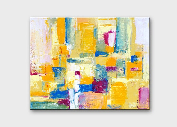Abstract canvas art Contemporary art Abstract modern painting Geometric abstract painting Canvas painting Abstract yellow painting on canvas