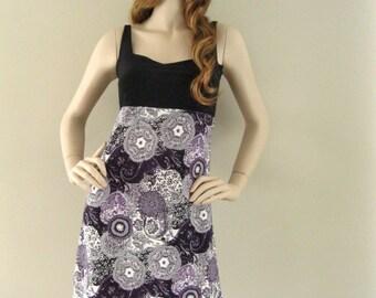 Bohemia summer dress with paisley print