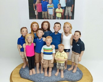 Custom Large Family Sculpture from Your Ideas and photos