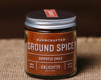 Chipotle Chile - Handcrafted Ground Spice - 2.8 ounces in Glass Jar, All-Natural and Gluten Free