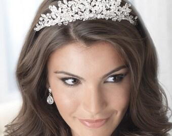 Swarovski Crystal Wedding Tiara, Rhinestone Wedding Crown, Bridal Hair Accessory, Crystal Bridal Tiara, Crystal Crown, Bridal Crown ~TI-3233