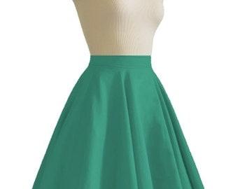 JULIETTE Green Rockabilly Swing Rock 'n Roll Skirt//Full Circle Green Skirt//Retro Mod 50s style Skirt//Party Skirt XXS-3X