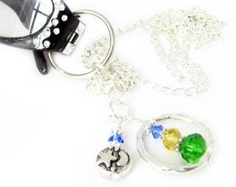 Eyeglass Lanyard, ID Lanyard, Celestial Lanyard, Eyeglass Necklace, Eyeglass Chain, Key Lanyard, Gift for Her, Gift Under 20, Gift Ideas