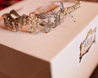 Marcasite headband, vintage bridal hairband, vintage marcasite combs, vintage bridal band