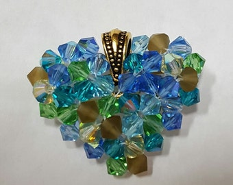 Crystal Heart Pendant - 3D