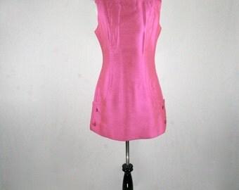 1960s Hot Pink Mini Dress by Anita Modes