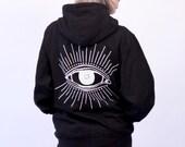 Eye Ray Zip-Up Hoodie