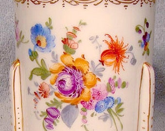 Donath & Co Dresden Hand Painted Porcelain Jam Jelly or Marmalade Pot 1900