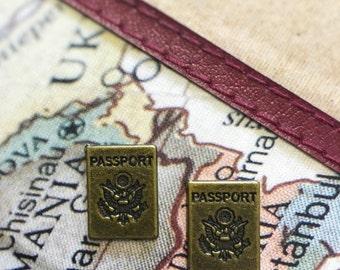 Mini Passport Stud Earrings!