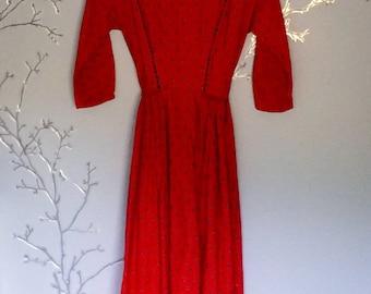 Handmade Barbara Farrow Prairie Dress 70s