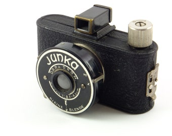 Vintage Antique Camera JUNKA Made in Germany 1930's Great Father's day Gift Rare camera