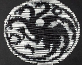 Game of Thrones Targaryen crest Chainmaille Inlay