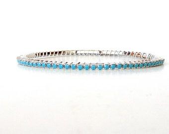 Turquoise Stacking Bracelet, Stacking Bangle, December Birthstone