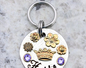 Flower Princess - Dog ID Tag