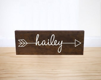 Personalized Baby Gift, Baby Name Sign, Personalized Name Sign, Woodland Nursery, Arrow Decor, Baby Shower Gift, Tribal Boho Nursery