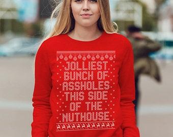 Jolliest Bunch. Jolliest Bunch Sweater. Griswold. Tacky Sweater. Ugly Christmas Sweater. Christmas Sweatshirt. Jolliest-Bunch.