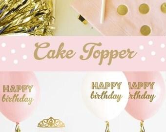 PRINCESS Crown Cake Topper Gold Princess Crown Cake Topper Princess Cake Topper Princess Baby Shower Decorations Princess Party (EB3116)