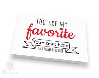 Valentine card pdf  Etsy