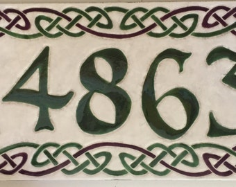 Celtic Border address tile