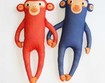 MR, MONKEY organic cotton animal doll
