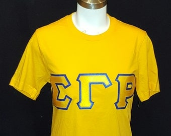 Sigma Gamma Rho  2 color applique t-shirt