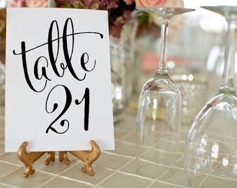 1-50 Black Wedding Table Numbers ⋆ Printable Wedding Table Numbers ⋆ Elegant Wedding Table Decor ⋆ 4x6 Table Number Cards ⋆ #KKD105