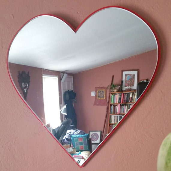 10 Small House Designs That Break Preconceptions About Small Size: Heart Art Wall Mirror Heart Wall Art Decorative Heart Decor