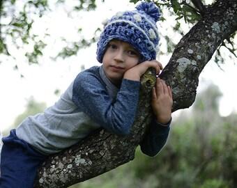Crochet Winter Hat With Pom Pom , Crochet baby hats , Crochet toddler hat , Crochet infant hat, Crochet hats for girls /boys.