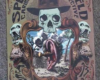 Split Lip Rayfield Boulder 2015 Original Concert Poster Colorado Fox Grealish