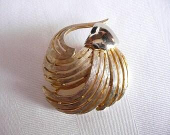 Vintage Gold Tone Ledo 1963 Brooch