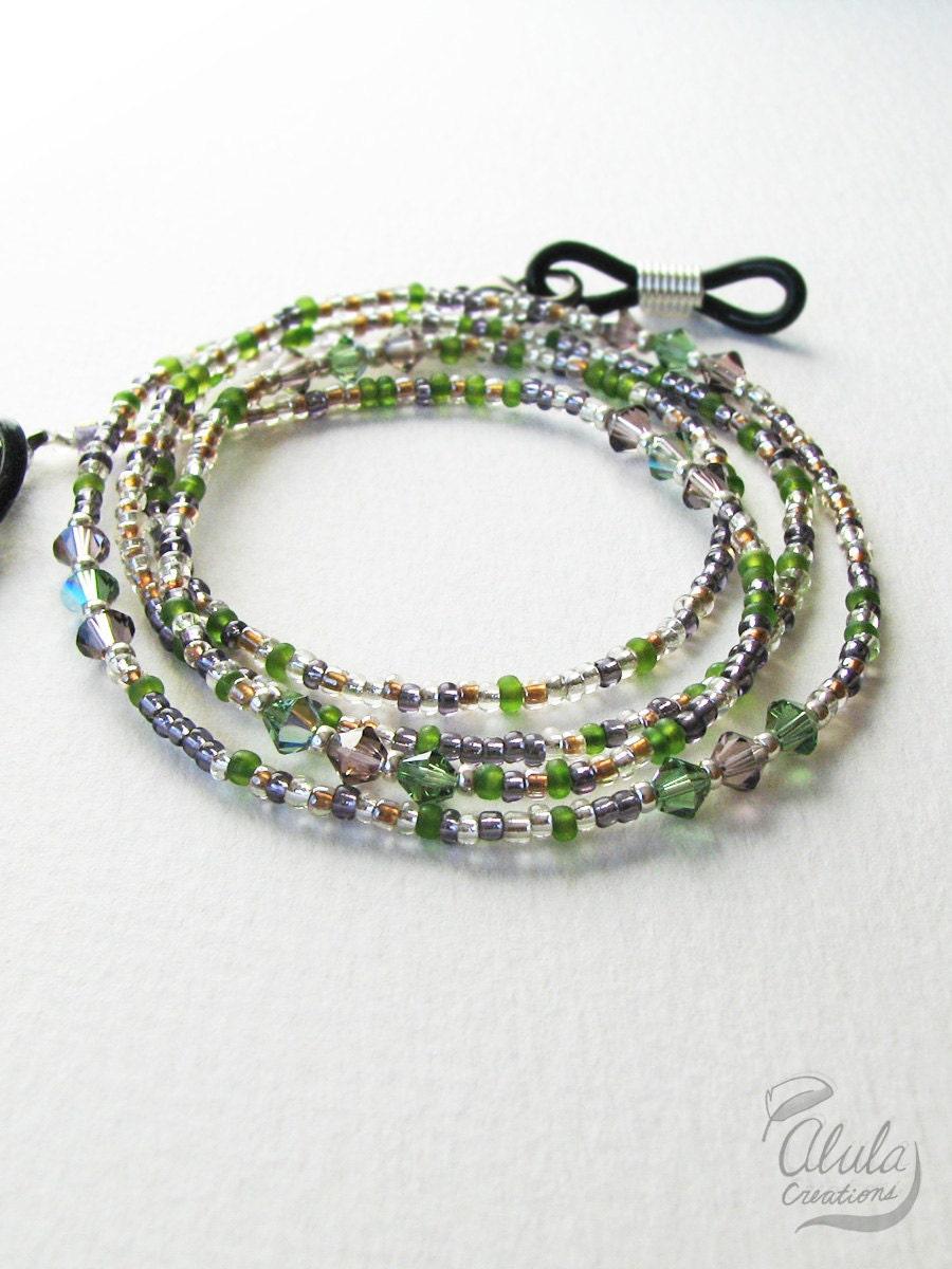 eyeglass holder necklace reading glasses chain swarovski