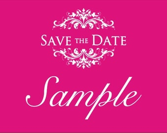 Save the Date, listing for sample