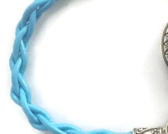 Blue Leather Watch Strap - Anchor - Adjustable Watch - Interchangeable Strap - Women Watch - Blue Ladies Watch - Girl Watch - Silver Watch