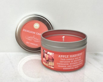 Apple Harvest Scented Soy Candle - Seasonal Candle - Cinnamon Soy Candle - Apple Soy Candle - Home Decor Gift - Unisex Gift - Holiday Candle