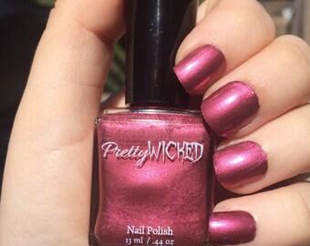 Rose Nail Polish, Rosabelle Polish, Pink Nail Polish, Purple Nail Polish, Pinkish Purple Nail Polish, Metallic Nail Polish, Fandango Color