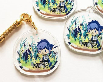 Fire Emblem Awakening, Chrom Crystal Clear Acrylic Charm, Game Anime Cellphone Strap