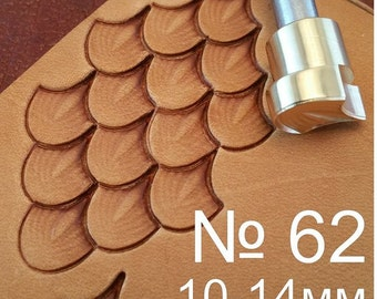 Tools for leather crafts. Stamp #62 - Dragon scale