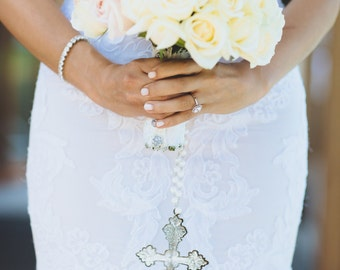 Bridal Bouquet Hanging Cross Accessory (Large)