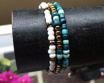 Turquoise Mix Stretch Bracelet
