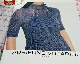 1990s Adrienne Vittadini Yarns Knitting Pattern Book