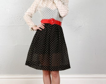 SALE- Vintage Polka Dot Dress . NOS Never Worn