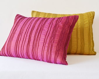 Pink Textured Cushion Cover , Pink Pillow Covers with Corded Texture , Pink Decorative Pillow , Bright Pink Pillow Cover , Pink Cushion